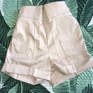 Pinup Girl Clothing High Waisted Shorts in Khaki